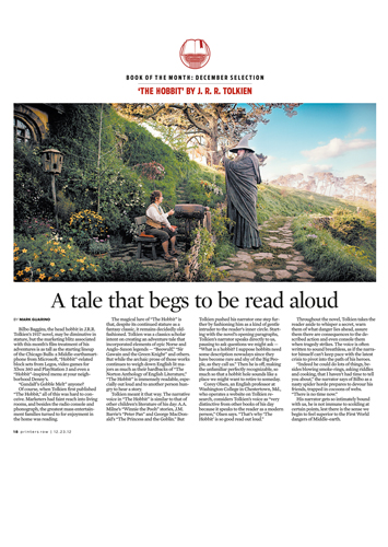 'The Hobbit' is a tale that begs to be read out loud, Chicago Tribune