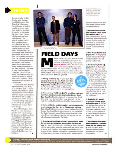 Magnetic Fields, Chicago Magazine