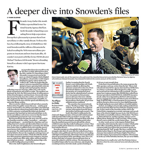 A deeper dive into Snowden's files, Printers Row